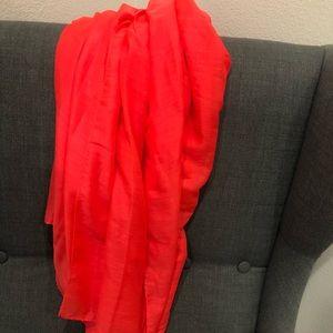 Bright orange wrap